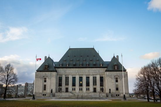 Main Building and headquarters of the Supreme Court of Canada, in Ottawa, Ontario. Also known as SCOC, it is the highest justice body of Canada